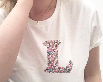 Liberty of London Personalised Initial Tshirt