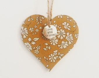 Liberty 'Love and Be Loved' Hanging Heart