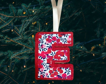 Liberty of London Personalised Letter Christmas Decoration