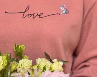 Love Sweater with Mini Liberty of London Heart