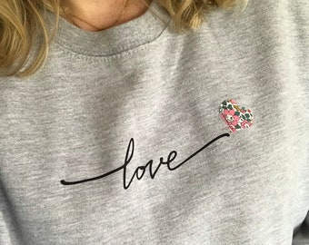 Love Sweater with Mini Liberty of London Heart