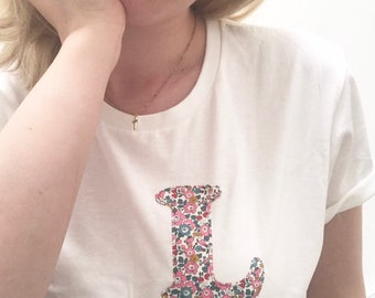 Liberty of London Personalised Initial Tshirt