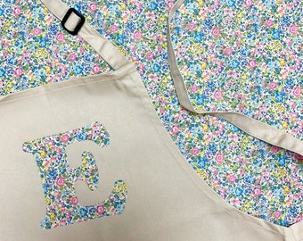 Adult Personalised Liberty of London Initial Apron