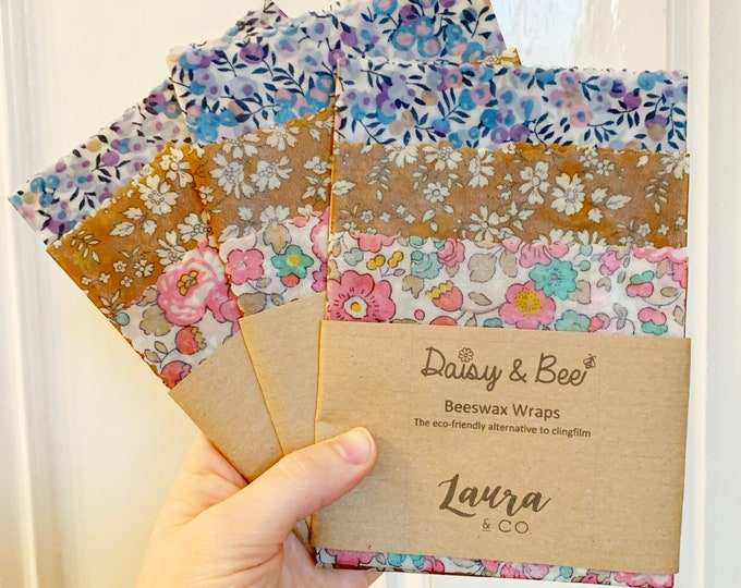 Featured listing image: Liberty of London Beeswax Wraps. S/M/L Trio Pack