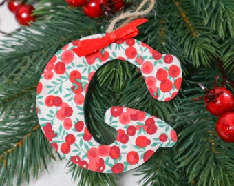 Personalised Liberty of London Christmas Decoration, in a fabric of your choice