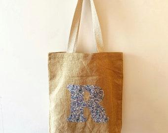 Personalised Liberty of London Jute Tote Bag