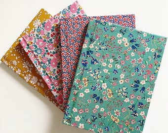 Liberty of London Fabric Covered Lined Notebook, A6 and A5