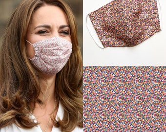 Kate Middleton Style Liberty of London Facemask