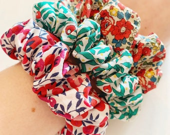 Festive Liberty of London Fabric Hair Scrunchie. Choose from a range of Christmas fabrics