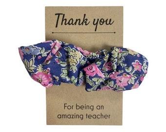 Teacher Thank you Gift. Liberty of London Fabric Hair Scrunchie. Choose from a range of fabrics