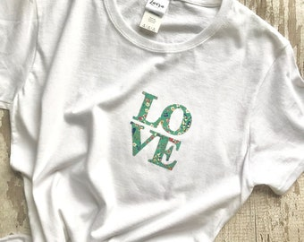 The LOVE Tee, in a Liberty fabric of your choice
