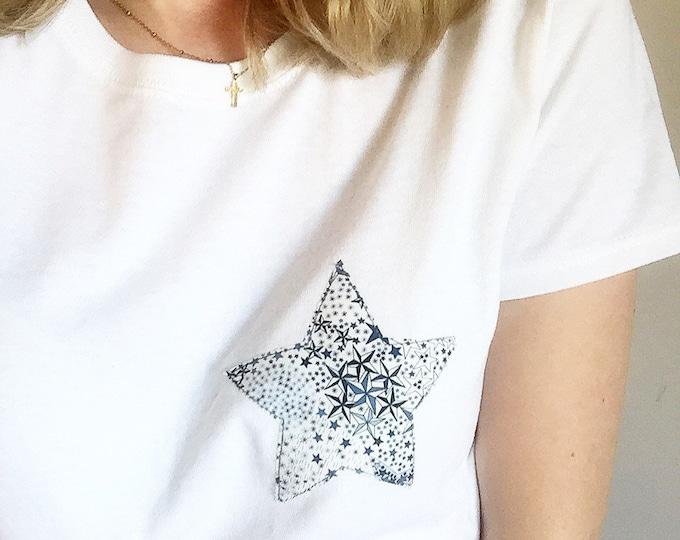 Star Tshirt in Liberty of London Adelajda Tana Lawn Fabric