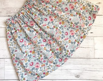 Children's Elasticated Skirt, Handmade in a Liberty of London Tana Lawn fabric of your choice