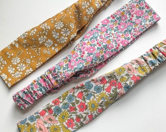 Adult Elasticated Headband, handmade using a Liberty of London fabric of your choice.