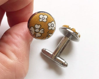 Liberty of London Cufflinks, in a fabric of your choice.