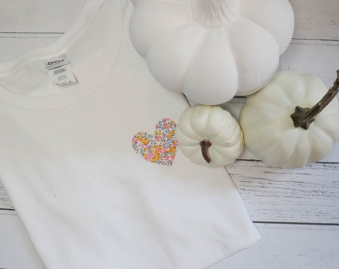 Featured listing image: Mini Heart Tee. In a Liberty fabric of your choice