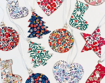 Liberty of London Fabric Covered Christmas Tree Decoration