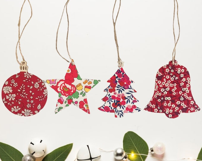 Featured listing image: Liberty of London Fabric Covered Christmas Tree Decoration