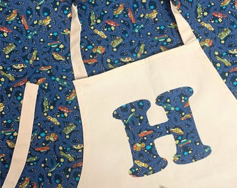 Children's Personalised Liberty of London Initial Apron