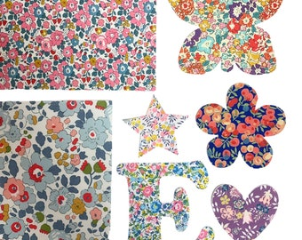 Mixed Bag of Liberty of London Iron-on Applique Shapes
