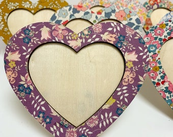 Liberty of London Wooden Heart Photo Frame.