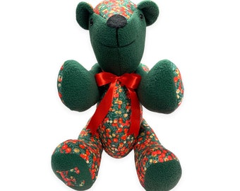 Handmade Liberty of London Christmas Teddy Bear