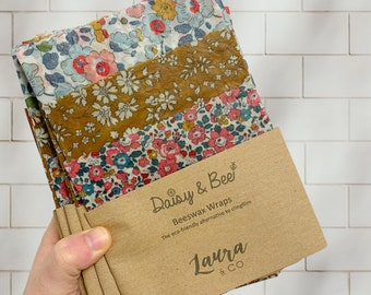 Liberty of London Beeswax Wraps. S/M/L Trio Pack
