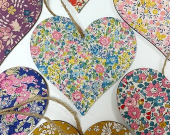 Liberty of London Wooden Hanging Heart.