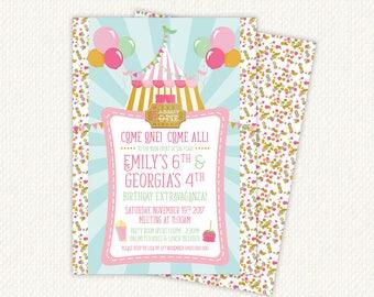 Carnival Invitation, Carnival Birthday Invitation, Carnival Party Invitations, carnival theme party, circus birthday invitation, invite