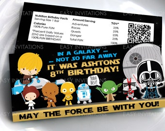 Star Wars Chocolate, star wars party favors, star wars party favours, printable chocolate wrapper, starwars, birthday party, Hershey, Aldi