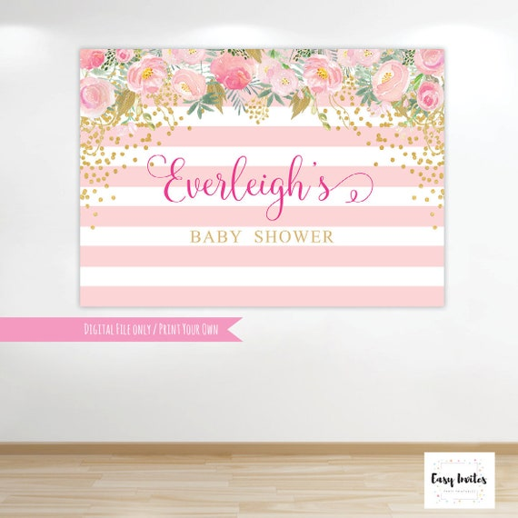 Baby Shower Backdrop Baby Shower Back Drop Baby Shower Etsy