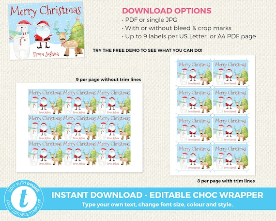 Editable Christmas Labels.Editable Christmas Labels Instant Download Christmas Labels Christmas Class Gift Santa Editable Labels Editable Christmas Gift Tag