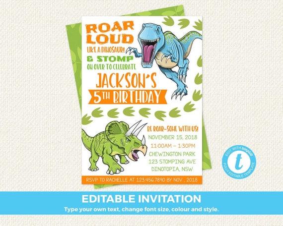 dinosaur birthday invitation dinosaur invitation dino 1st etsy