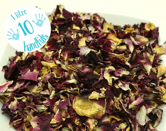 1 Litre approx 10 guests Natural Wedding Confetti Eco-Friendly Biodegradable Air Dried Rose Petals Budget Petal Confetti Tropical Crush