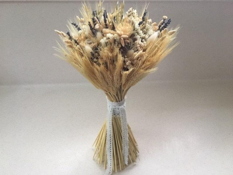 Disposición De Trigo Seco Arreglo Floral Decoración De La Boda Ramo Natural Decoración Del Hogar Decoración De La Mesa Ramo De Novia