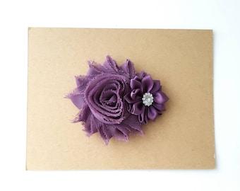 Purple Hairclips Plum Lavender Raspberry set of 3