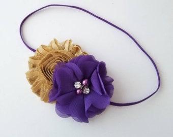 Purple and Gold Headband 021d5df815c
