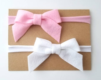 Set of 2 Felt Bow Headbands a03602fa8a8