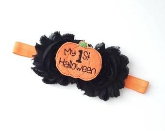 Halloween Ghost Baby Headband Halloween Baby Headband Ghost Baby Headband Halloween Headband Black Orange Halloween headband