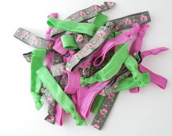 Spring Floral Hair Tie Mix, Hair Tie Grab Bag, Yoga Hair Ties, Elastic Hair Ties, Girls Hair Ties, FOE Hair Ties, Elastic Hair Bands