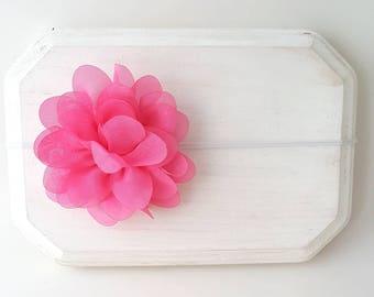 Pink Baby Headband - Pink Headband - Newborn Headband - Preemie Headband - Baby Girl Headband - Pink Hair Bow - Pastel Pink Headband