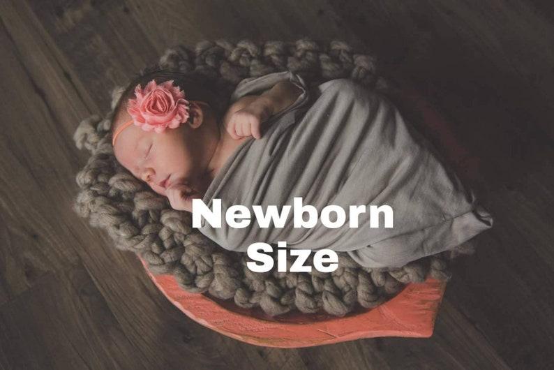 Newborn Headband Set Set of 3 Chiffon Flower Baby Headbands Preemie Headbands Newborn Headbands Headband Gift Set Baby Headband Set
