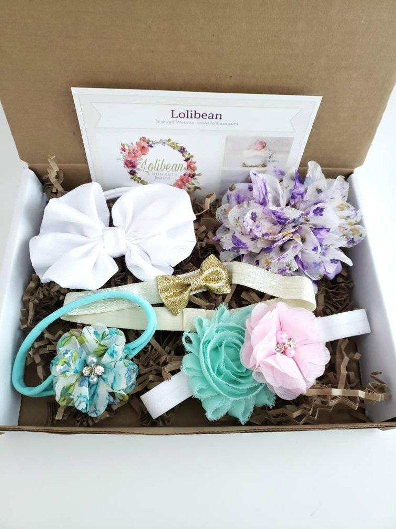 Preemie Headbands Newborn Headbands Unique Shower Gift Baby Shower Gift Headband Gift Box Hair Bow Gift Box Baby Girl Headbands