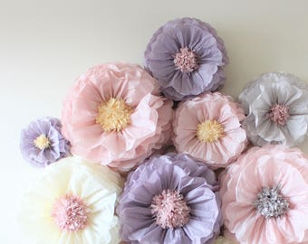 Huge paper flowers etsy 3d centerpiece vintage decorations tissue paper flowers set of 10 huge paper blooms baby shower birthday party backdrop wallpaper mightylinksfo