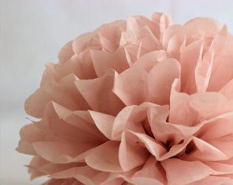 1 Tissue Paper Flower - Vintage rose - Party decoration - Nursery - Paper Pom Poms - Wedding set - Birthday decorations