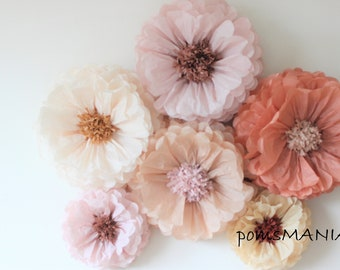 Tissue paper flowers etsy tissue paper flowers set of 10 343 huge paper blooms baby shower birthday decorations backdrop wallpaper mightylinksfo
