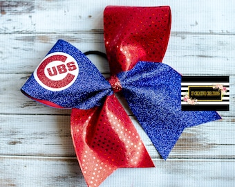 Chicago Cubs Cheer Bow