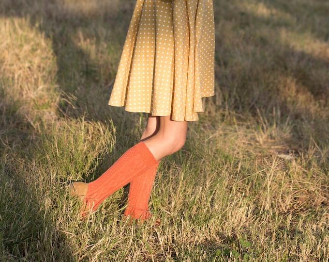 Pumpkin Spice Knee High Socks Hand Dyed Toddler Knee High Socks Baby Children's Girl's Socks Pumpkin Spice Fall Socks Fall Orange Socks