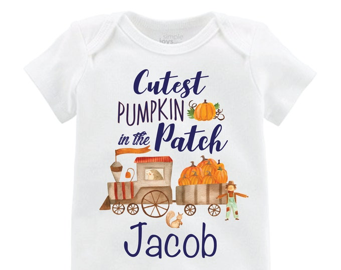 Boy Pumpkin Patch Shirt Personalized Pumpkin Train Fall Boy Shirt Pumpkin Patch Shirt Halloween Shirt Boy Boy Train Woodland Pumpkin Patch