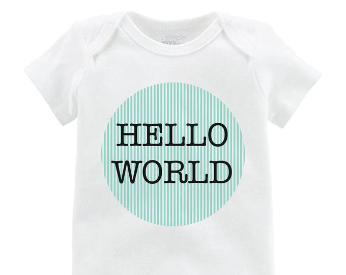 Boy Hello World Onesie Hello World Bodysuit Boy Coming Home Onesie Newborn Coming Home Bodysuit Hello World Boy Shirt Boy Newborn Shirt